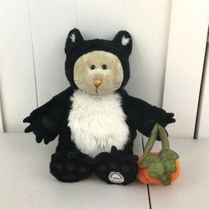 Starbucks Bearista Bear Cat Plush with Pumpkin